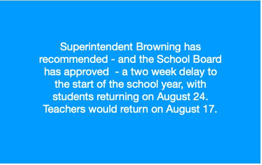 2-week Delay To Start of School