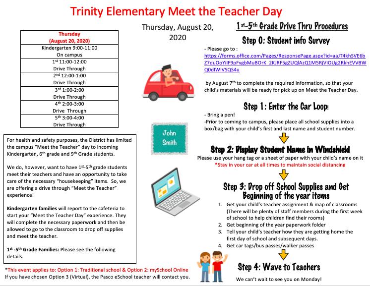 Meet The Teacher Day Information