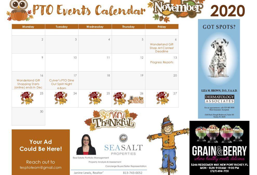 PTO Events Calendar
